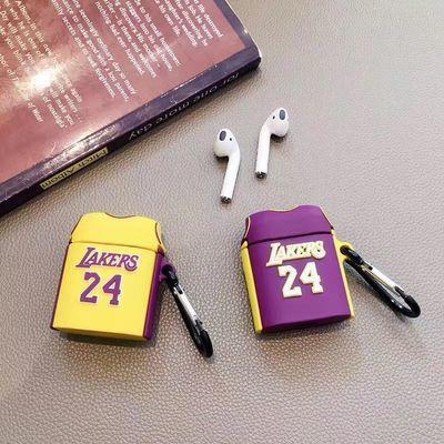 AirPodspro蓝牙耳机套苹果1/2代耳机保护壳可爱科比24#篮球衣潮牌