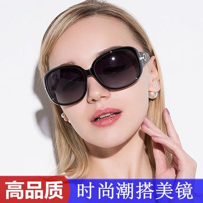 偏光墨镜女士时尚大框黑色太阳镜圆脸大脸韩版新款潮防紫外线眼镜