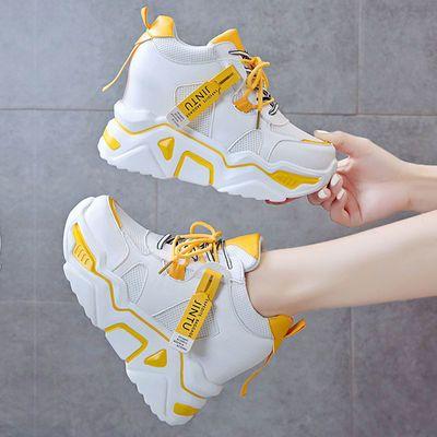 内增高网红老爹鞋女2020春季新款韩版厚底百搭ins超火网面运动鞋