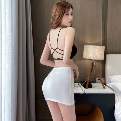 超短一步裙弹力超短裙性感情趣迷你走光裙方便野外半身齐小短裙女