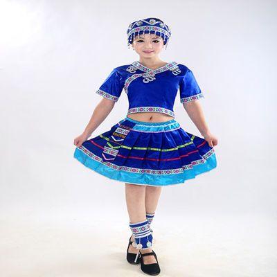 新苗族演出服土家族服装女湘西少数民族成人短款瑶族彝族舞蹈服饰