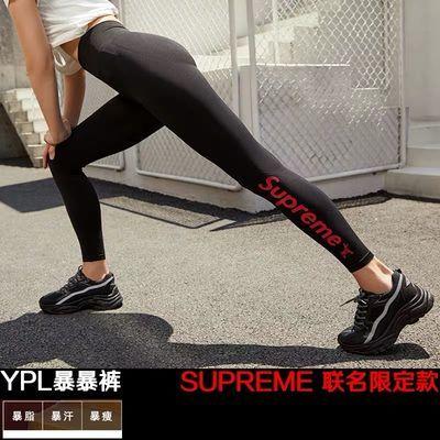 YPL燃脂裤瑜伽裤女高腰紧身提臀健身裤收腹跑步运动速干裤小狗裤