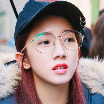 防辐射抗蓝光眼镜框女无度数电脑护眼睛男平光平镜韩版潮可配近视