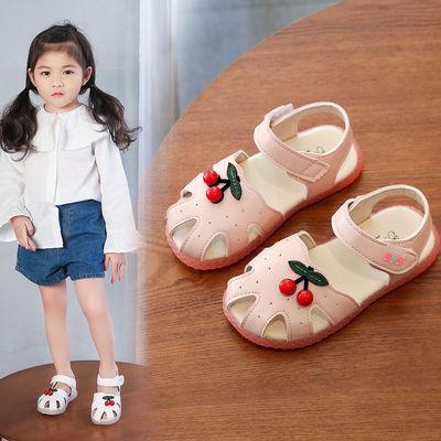 女童凉鞋夏季新款儿童可爱女宝宝学步鞋婴幼儿包头软底小孩公主鞋