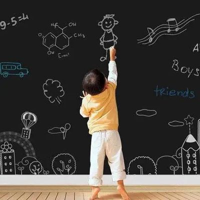 黑板墙家用可移除贴纸儿童涂鸦墙贴墙纸自粘教学可擦写白板黑板贴