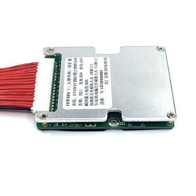 60V锂电池保护板 三元锂16串电池组保护板 同口带均衡温控20A 30A