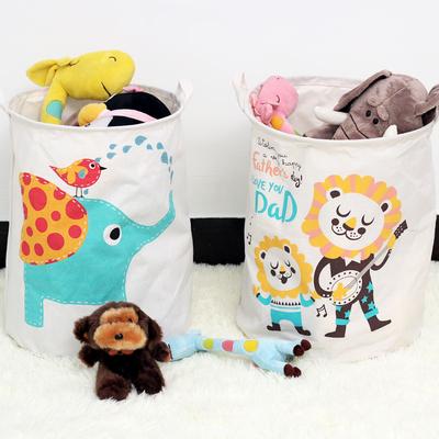 脏衣篮超大号玩具收纳桶折叠防水放脏衣服收纳筐棉麻脏衣篓洗衣篮