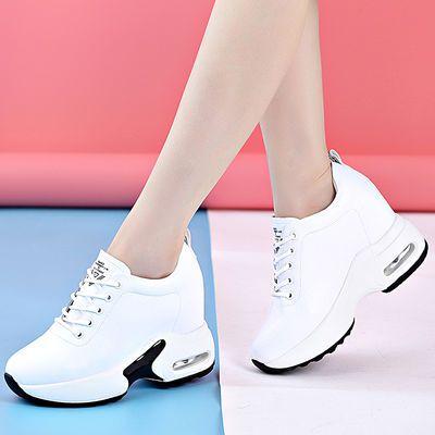 真皮内增高小白鞋女显瘦百搭2020春季新款韩版休闲鞋百搭显瘦旅游