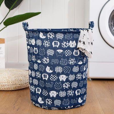 脏衣篮玩具收纳桶大号可折叠棉麻布艺洗衣服收纳筐脏衣篓篮子防水