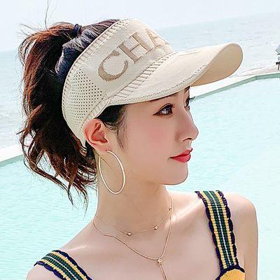 帽子女春夏季韩版时尚洋气空顶帽无顶鸭舌帽女士遮太阳帽跑步运动