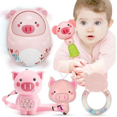 鑫思特不倒翁故事机灯光音乐玩具婴儿宝宝安抚益智早教玩具0-1岁