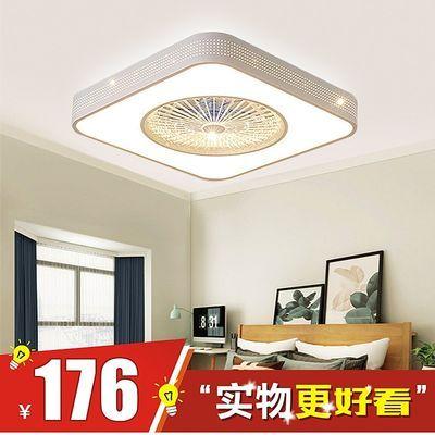 超薄吸顶灯带风扇灯现代简约吊扇灯客厅灯北欧家用餐厅卧室吸顶灯