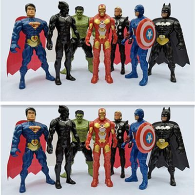 儿童可动发光复仇者联盟礼盒装绿巨人蜘蛛侠美国队长大号玩具模型