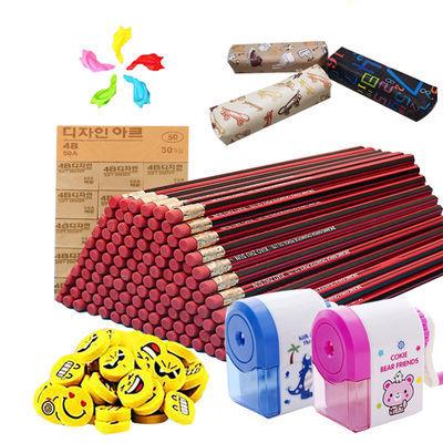 100/50/30支红木铅笔套装小学生六角杆HB铅笔学习文具品无毒铅笔的宝贝主图
