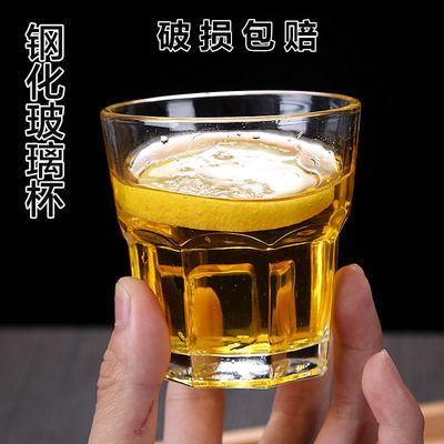 爆款20只装 钢化玻璃杯 啤酒杯威士忌杯防摔八角玻璃杯 KTV玻璃杯