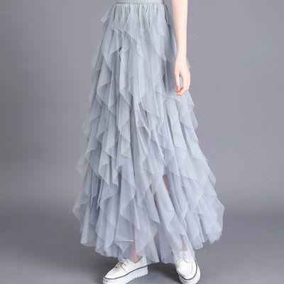 夏款雪纺蛋糕半身裙2019新品性感超短裙女学生迷你小裙子无内衬
