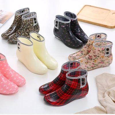 雨鞋女短筒韩版时尚雨靴防滑套鞋成人防水鞋可爱雨靴外穿四季胶鞋