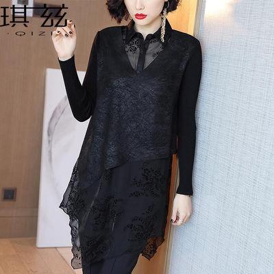 琪兹衬衫女2020春装新款不规则长款设计感小众上衣欧洲站洋气小衫