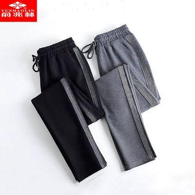 【俞兆林】运动裤女春夏2020新款哈伦裤宽松黑色外穿休闲女裤子