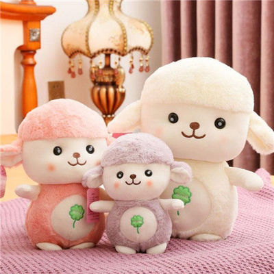 仿真小绵羊可爱小羊毛绒玩具羊驼玩偶公仔娃娃生日儿童女孩礼物【