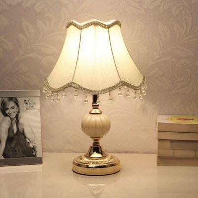 欧式台灯卧室床头装饰温馨护眼小台灯调光喂奶床头遥控LED节能灯