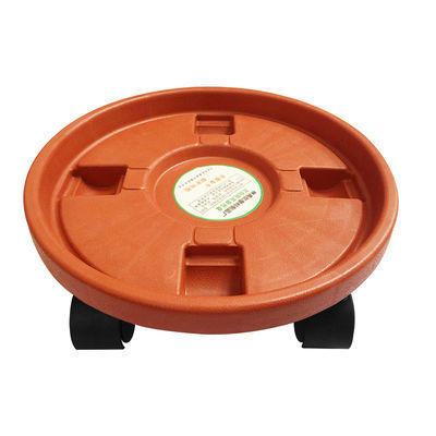 加厚移动花盆托盘带轮子花盆垫底托盘带轱辘圆形底座盘