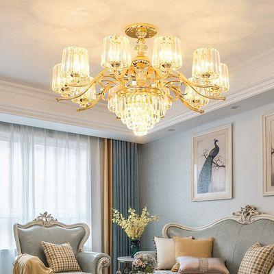 欧式吊灯客厅吊灯简约现代水晶灯具餐厅卧室灯饰网红