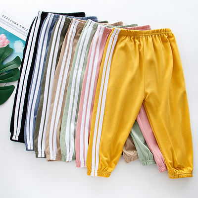 儿童休闲裤夏季防蚊裤空调裤薄款长裤子运动裤男女童睡裤束脚裤