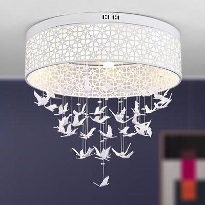 卧室灯led吸顶灯具客厅灯圆形水晶吊灯温馨浪漫房间灯简约儿童灯