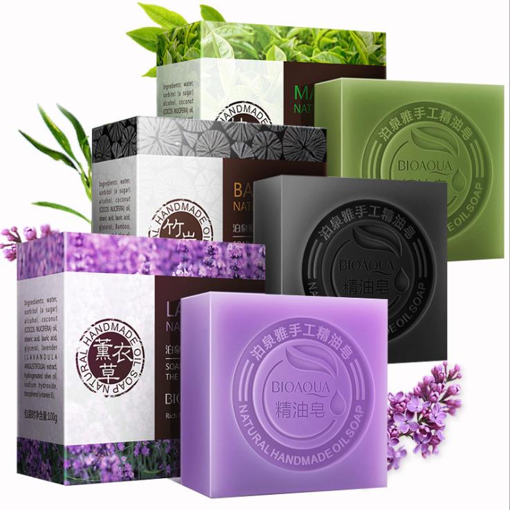 【4块超值装送手霜】天然植物手工皂沐浴洁面洗脸润肤卸妆精油皂