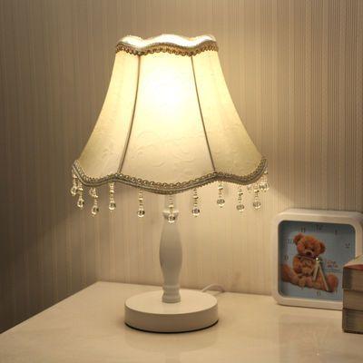 现代简约欧式台灯卧室装饰婚房温馨护眼喂奶小台灯遥控调光床头灯