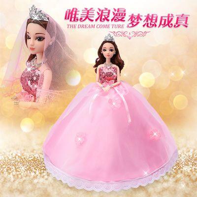 【买一送十】【三套衣服】换装芭比娃娃婚纱公主女孩玩具生日礼物