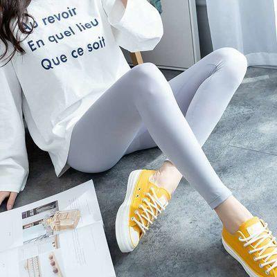 新款大码冰丝打底裤女薄款外穿夏季韩版高腰显瘦九分防晒小脚裤子
