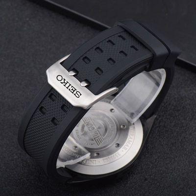 精工硅胶表带代用seiko5号SRP601J1 PROSPEX系列SRP777J1男女防水