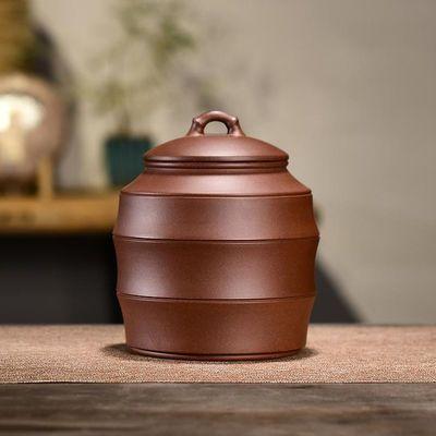 紫砂茶叶罐半斤普洱醒茶罐家用茶缸陶瓷存茶储茶罐茶叶桶密封茶罐