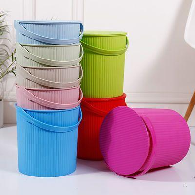 加厚带盖储物桶沐浴凳水桶钓鱼桶手提桶洗澡用收纳桶可坐桶家用桶