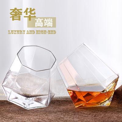 家用玻璃威士忌酒杯个性喝酒杯子创意洋酒杯烈酒杯钢化透明啤酒杯