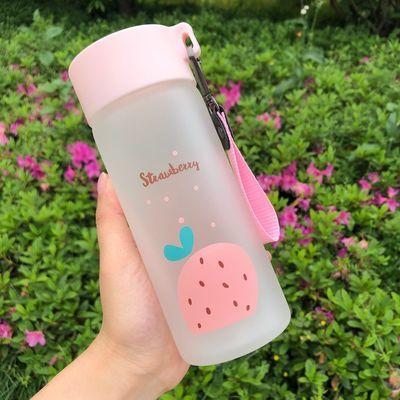 磨砂玻璃杯ins便携水杯女学生韩版可爱网红杯子创意清新简约茶杯
