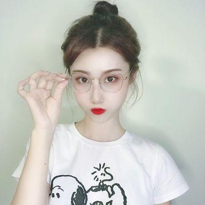 网红款防蓝光辐射电脑眼镜男抗疲劳眼睛框平光护目镜女近视镜潮流