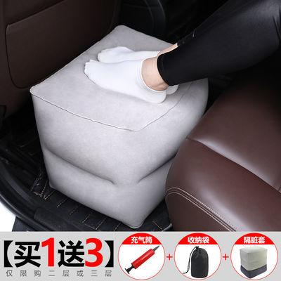 长途飞机脚垫出国旅行垫腿歇脚坐飞机睡觉充气护颈枕汽车脚凳足踏