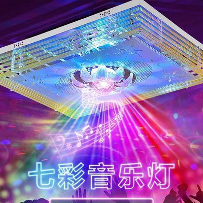 客厅灯长方形LED吸顶灯水晶灯卧室灯现代简约大气遥控灯具包邮