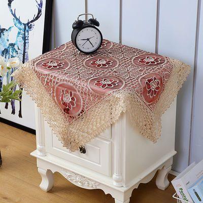 镂空蕾丝微波炉床头柜咖啡机电饭煲盖巾套防尘罩多用万能方巾盖布