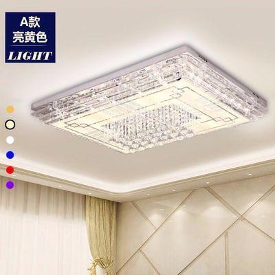 【可选顺丰配送】LED水晶灯客厅灯长方形吸顶灯大气现代简约风格
