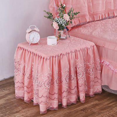 全包夹棉蕾丝床头柜罩万能盖布盖巾卧室台布欧式床头罩保护套布艺