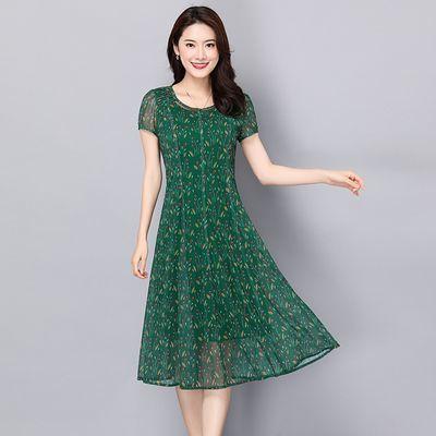 妈妈连衣裙夏装新款高贵夫人气质中老年40-50-60岁高档中年加大码