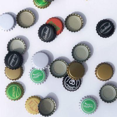 啤酒瓶盖全新啤酒瓶盖黑色金色白色皇冠瓶盖饮料盖鸡尾酒盖豆奶盖
