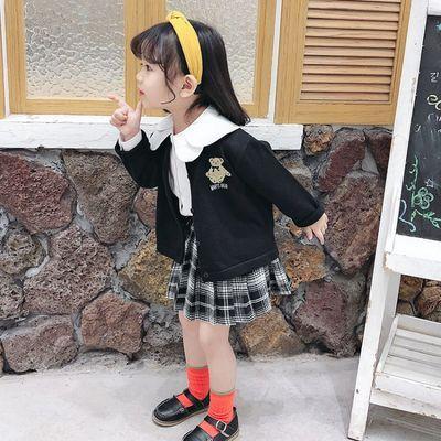 女童春装学院风套装2020新款洋气女宝宝春秋装网红韩版儿童三件套