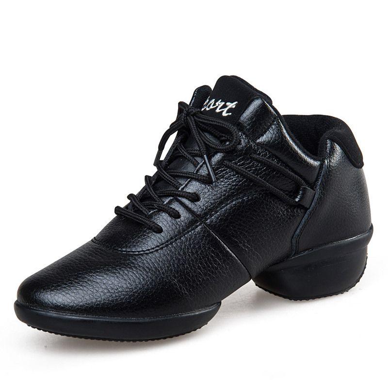 便宜的阿乐威舞蹈鞋女广场舞秋冬季真皮软底广场舞鞋白色水兵运动跳舞鞋