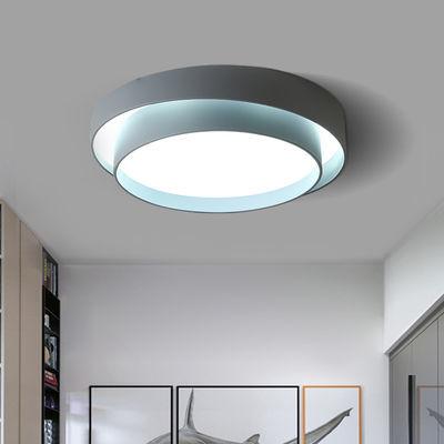 卧室灯大气家用现代简约风格led吸顶灯房间创意个性圆形北欧灯具