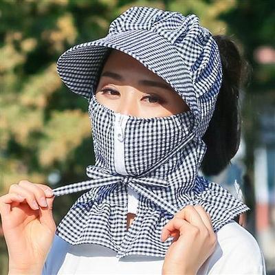新款遮阳帽子女夏天防晒帽防紫外线骑车遮脸韩版百搭大沿凉太阳帽